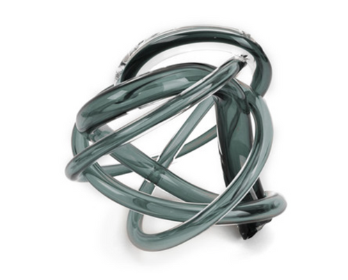 GLASS KNOT | LARGE | SMOKE 10""