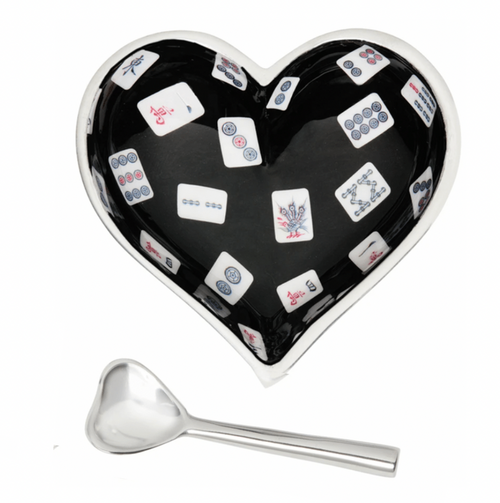 MAH JONG HEART & SPOON SET