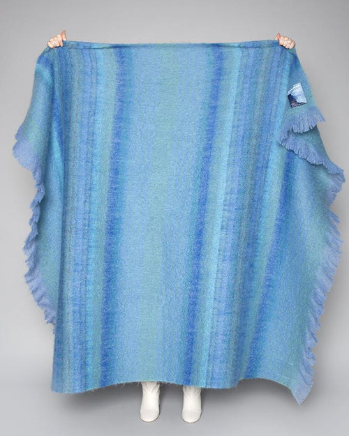 WILD ATLANTIC THROW | BLUE MOHAIR