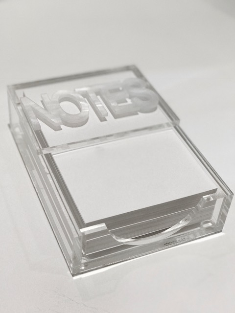 NOTEPAD HOLDER | NOTES | WHITE MARBLE