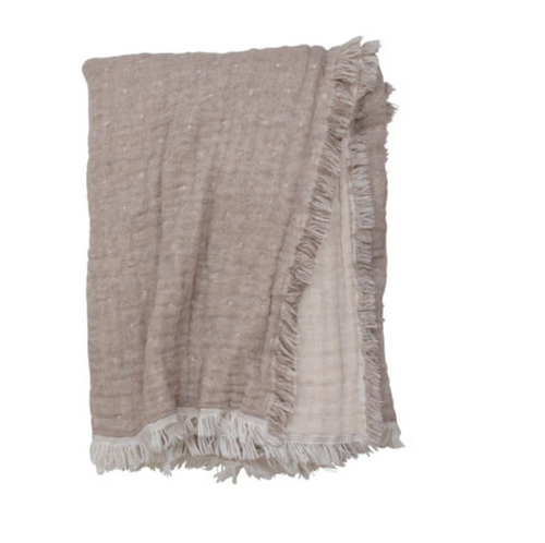 COZI THROW | NATURAL TAUPE