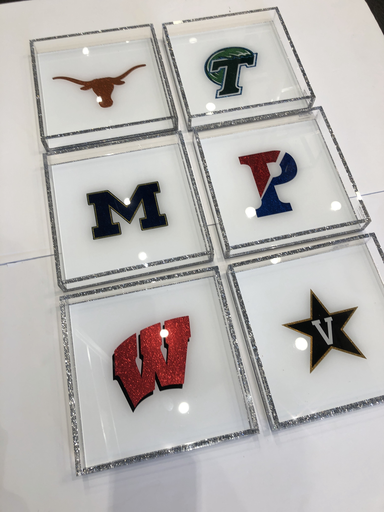 COLLEGE SPIRIT TRAYS BY EYE CANDY  | VARIOUS SCHOOLS