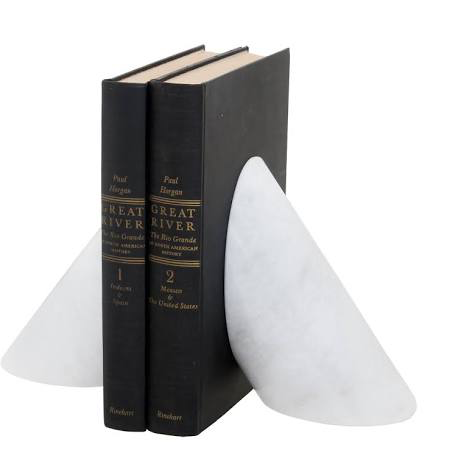 PEARLE MARBLE BOOKENDS