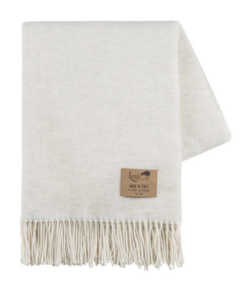 JUMO CASHMERE THROW | HEATHERED IVORY