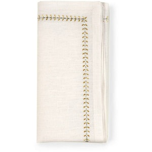 HERRINGBONE NAPKINS | GOLD