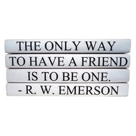 QUOTE BOOKSET | THE ONE WAY TO HAVE A FRIEND IS TO BE ONE