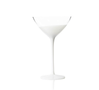 VAGUE RED WINE GLASS | CLEAR & WHITE
