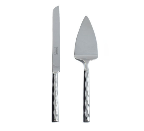 TRURO CAKE KNIFE & SERVER SET | PLATINUM