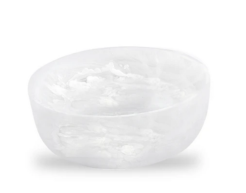 SWIRL RESIN ROUND BOWL | WHITE | VARIOUS SIZES