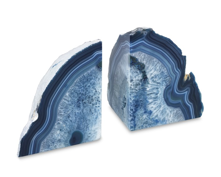 AGATE BOOKENDS | BLUE
