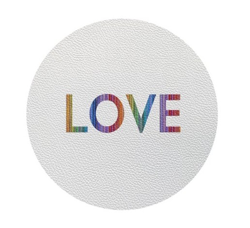 RAINBOW LOVE COASTERS |  SET 4