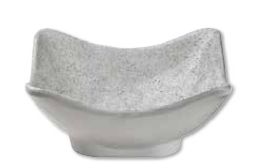 CRACKLE SQUARE DIPPING BOWL | WHITE/GREY