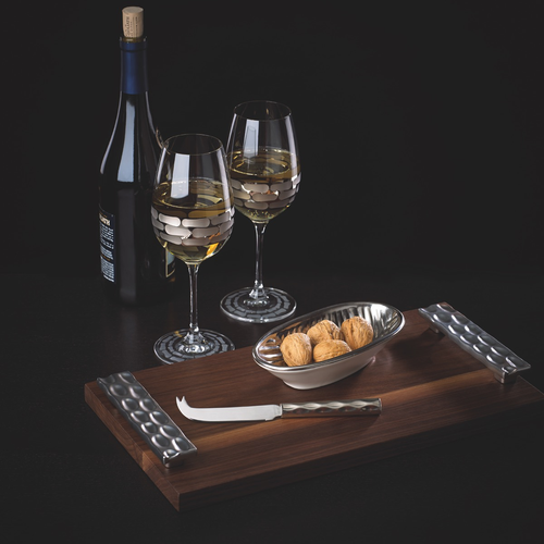 TRURO CHEESE TRAY & KNIFE | PLATINUM