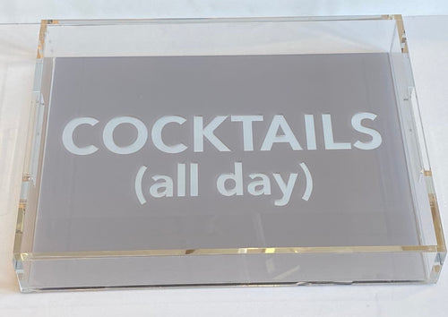 COCKTAILS ALL DAY TRAY | GREY