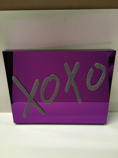 XOXO ART | PURPLE MIRROR/PASTEL GLITTER