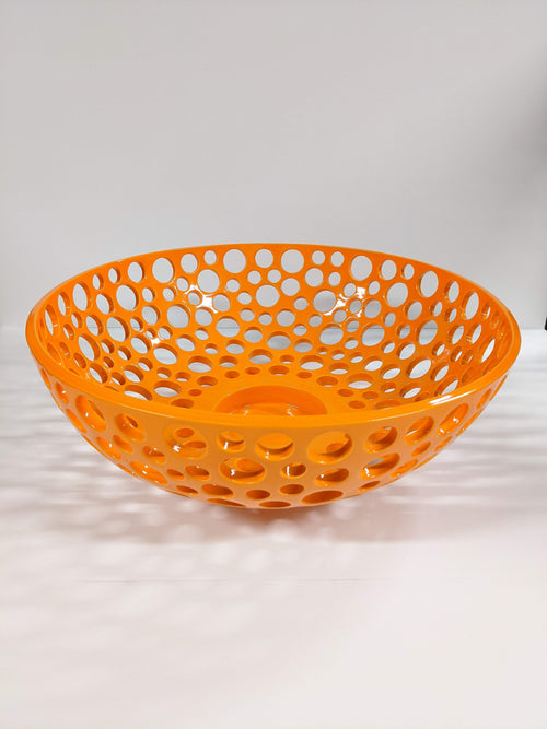 CERAMIC LACEY BOWL | LARGE | CARROT