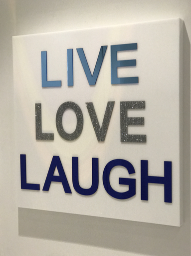 "LIVE LOVE LAUGH ACRYLIC ART | BOLD LETTERS | 24""x 24"""