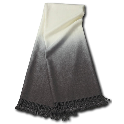 DIP DYED ALPACA THROW | PEWTER