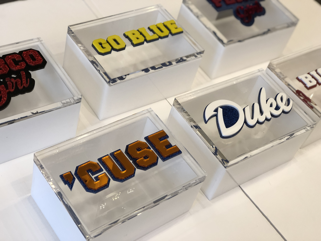 ACRYLIC COLLEGE SPIRIT BOXES