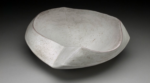 GESTURE HOLLOW BOWL | WHITE GLAZE