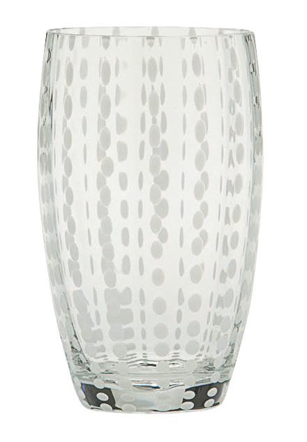 PERLE BEVERAGE GLASS SET | WHITE