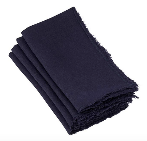 FRINGED NAPKIN | MIDNIGHT BLUE