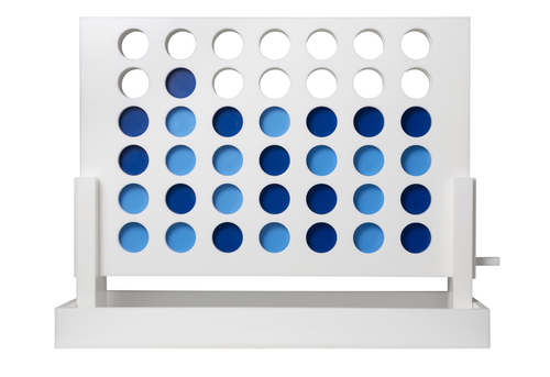 ACRYLIC CONNECT FOUR IN A ROW | WHITE & BLUE