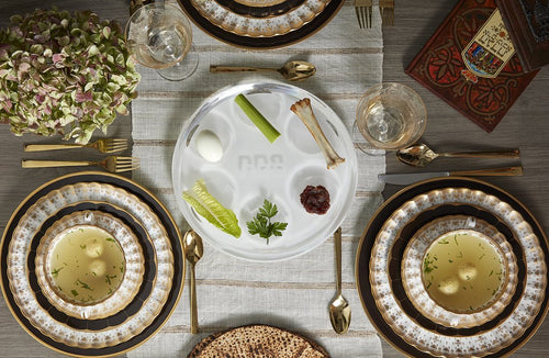 Acrylic Seder plate in table setting