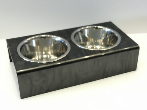 DOG BOWL | CHARCOAL MARBLE