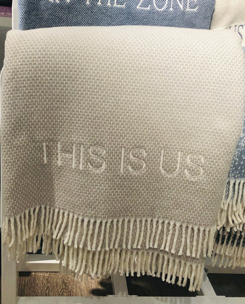 THIS IS US THROW | GRAIN OF RICE GREY