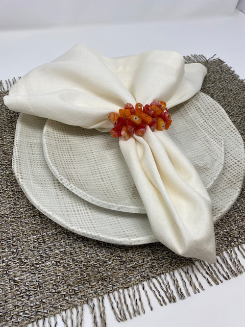 GRASS CLOTH MELAMINE DINNERWARE | VARIOUS