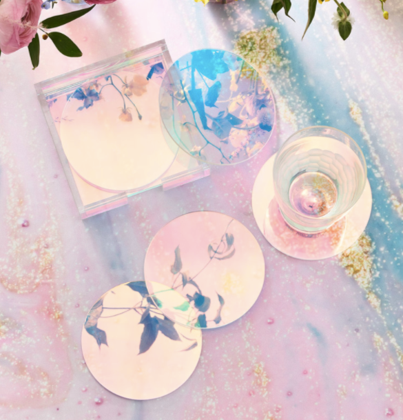 LUNA COASTER SET IN HOLDER | 6 PIECE