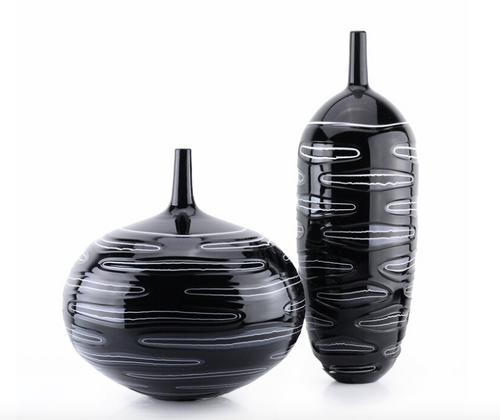 TRE STRATI COLLECTION BOTTLE | TALL | BLACK & WHITE
