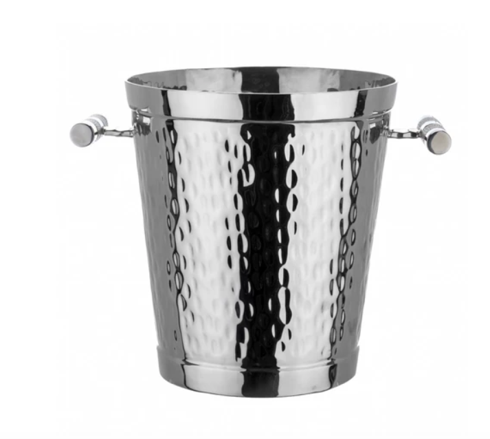 SHAGREEN HANDLED WINE BUCKET | NAVY