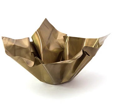 PAPER BOWL | TARNISHED BRASS | MEDIUM