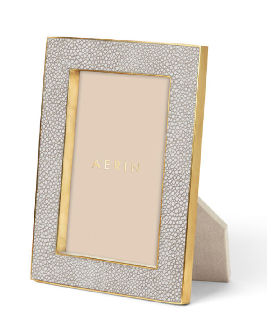 CLASSIC SHAGREEN FRAME | AERIN | DOVE | VARIOUS SIZES