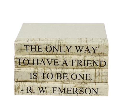 QUOTE BOOK SET | THE ONLY WAY TO HAVE A FRIEND | GOLD