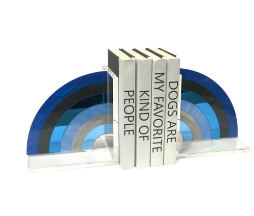 RAINBOW BOOKENDS | BLUE