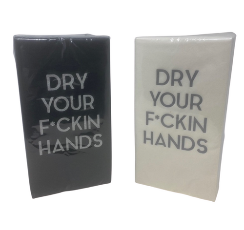 GUEST HAND TOWELS | DRY YOUR F*CKIN HANDS