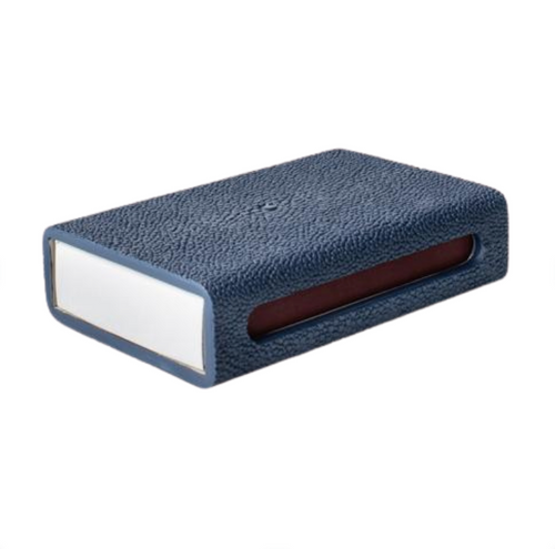 FAUX SHAGREEN MATCH BOX - NAVY
