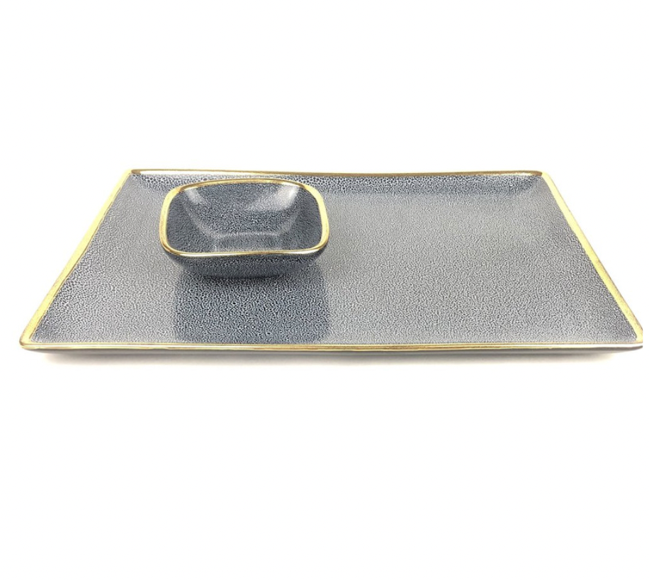 PANTHERA TRAY | RECTANGLE | INDIGO