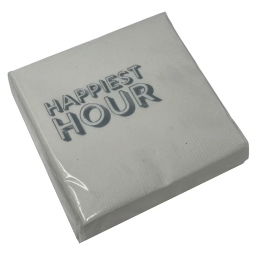 COCKTAIL NAPKIN PACK | HAPPIEST HOUR