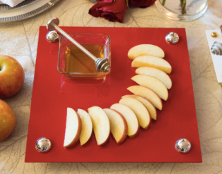 RED HONEY TRAY & DISH | APPLE RED