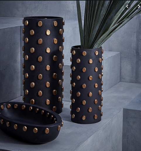 TEO VASE | BLACK & GOLD  | X LARGE