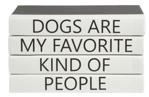 DOGS ARE MY FAVORITE PEOPLE | QUOTE BOOK SET
