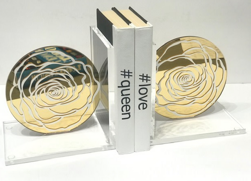 EYE CANDY BOOKENDS | ROSE | GOLD & WHITE