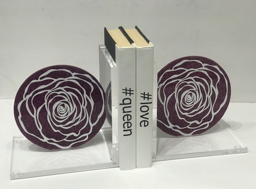 ROSE BOOKENDS | FUSHIA & WHITE