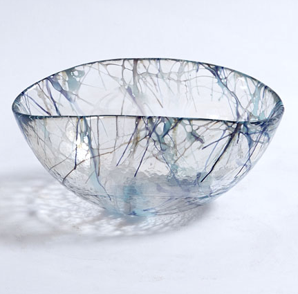 SPARK GLASS BOWL | BLUE