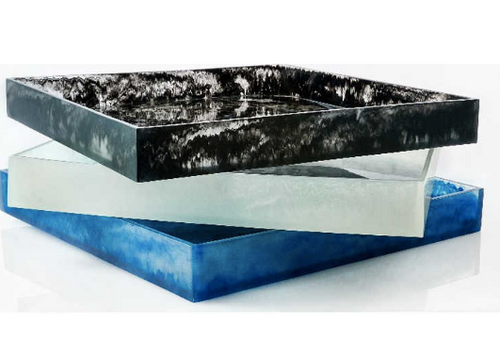 RESIN OTTOMAN TRAY | XL  | WHITE