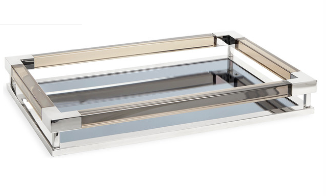 LUCITE JACQUES TRAY | LARGE  | NICKEL